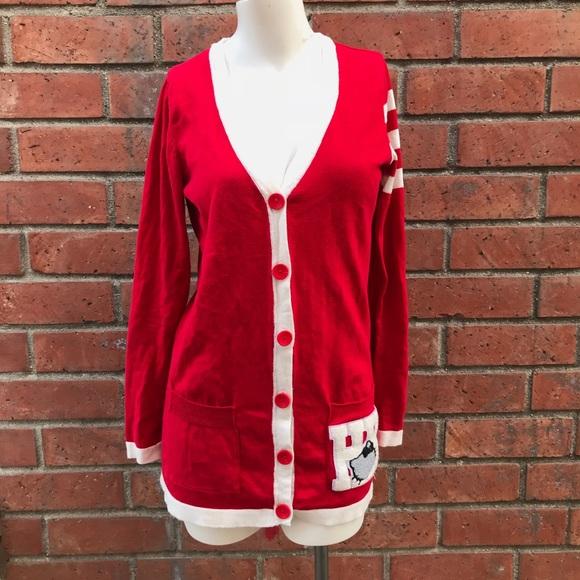 9b1284e1a M_5a4dd00f9d20f093e304e26f. Other Sweaters you may like. Hello kitty  cardigan. Hello kitty cardigan. $40 $65. Sanrio hello kitty tartan knit  sweater ...